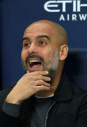 Manchester City manager Pep Guardiola ahead of the Carabao Cup, Fourth Round match at the Etihad Stadium, Manchester.