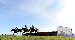 General view as runners clear the last during the Aspen Waite R & D Introducers Mares' Handicap Hurdle (Class 5) (4YO plus) - Photo mandatory by-line: Harry Trump/JMP - Mobile: 07966 386802 - 17/02/15 - SPORT - Equestrian - Horse Racing - Taunton Racecourse, Somerset, England.
