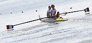 Poznan, POLAND,   FRA W2- bow, Marie LE NEPVOU and Stephnaie DECHAND, competing in the heats of the women's pair on the first day of the, 2009 FISA World Rowing Championships. held on the Malta Rowing lake, Sunday 23/08/2009 [Mandatory Credit. Peter Spurrier/Intersport Images]