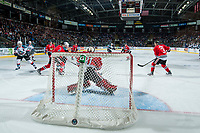 KELOWNA, CANADA - APRIL 8: Cole Kehler #31 of the Portland Winterhawks makes a save against the Kelowna Rockets on April 8, 2017 at Prospera Place in Kelowna, British Columbia, Canada.  (Photo by Marissa Baecker/Shoot the Breeze)  *** Local Caption ***