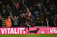 AFC Bournemouth Forward, Josh King (17) celebrates after scoring a goal to make it 2-0 during the Premier League match between Bournemouth and West Ham United at the Vitality Stadium, Bournemouth, England on 19 January 2019.