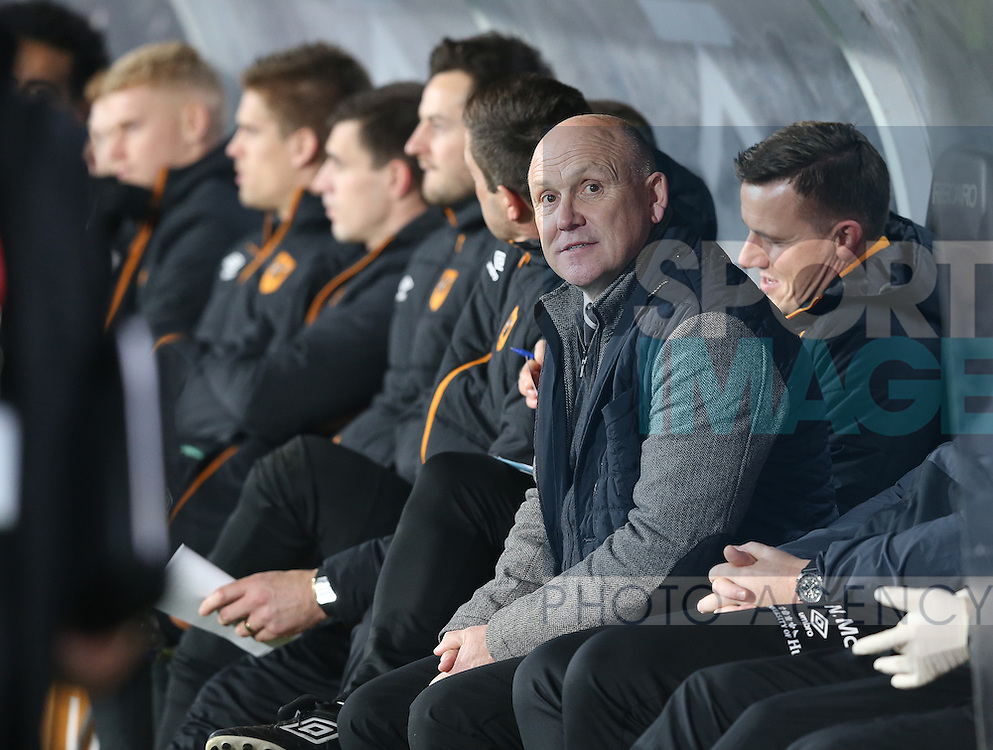 Mike Phelan manager of Hull City during the English Premier League match at the KCOM Stadium, Kingston Upon Hull. Picture date: December 30th, 2016. Pic Simon Bellis/Sportimage
