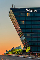 Westin Denver International Airport Hotel and Jeppesen Terminal, Denver, Colorado USA.