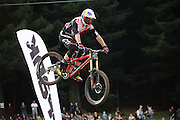 Rider coming down the course at the Official Oceana Whip-Off Championships 25.03.2015 Rotorua, NZ