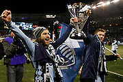 during the second half of the MLS Cup final soccer match in Kansas City, Kan., Saturday, Dec. 7, 2013. (AP Photo/Colin E. Braley)
