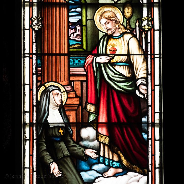 Window 1 on plan. <br /> Holy Redeemer Catholic Church, Bar Harbor, Maine.