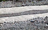 two channels of the Carbon River, Mount Rainier National Park, Washington, USA.