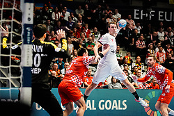 20.01.2020, Wiener Stadthalle, Wien, AUT, EHF Euro 2020, Kroatien vs Tschechische Republik, Hauptrunde, Gruppe I, im Bild v. l. Matej Asanin (CRO), Marino Maric (CRO), Stanislav Kasparek (CZE) // f. l. Matej Asanin (CRO) Marino Maric (CRO) Stanislav Kasparek (CZE) during the EHF 2020 European Handball Championship, main round group I match between Croatia and Czech Republic at the Wiener Stadthalle in Wien, Austria on 2020/01/20. EXPA Pictures © 2020, PhotoCredit: EXPA/ Florian Schroetter