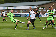 Forest Green Rovers Liam Noble (15) shoots at goal during the Vanarama National League match between Dover Athletic and Forest Green Rovers at Crabble Athletic Ground, Dover, United Kingdom on 10 September 2016. Photo by Shane Healey.