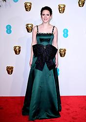 Rachel Brosnahan attending the 72nd British Academy Film Awards held at the Royal Albert Hall, Kensington Gore, Kensington, London.