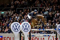 BORMANN Finja (GER), A crazy son of Lavina<br /> - Stechen-<br /> Grand Prix von Volkswagen<br /> Int. jumping competition over two rounds (1.55 m) - CSI3*<br /> Comp. counts for the LONGINES Rankings<br /> Braunschweig - Classico 2020<br /> 08. März 2020<br /> © www.sportfotos-lafrentz.de/Stefan Lafrentz