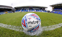A general view of the 2017-18 EFL Mitre match ball on the centre spot at Peterborough United's ABAX Stadium - Mandatory by-line: Joe Dent/JMP - 15/07/2017 - FOOTBALL - ABAX Stadium - Peterborough, England - Peterborough United v Queens Park Rangers - Pre-season friendly