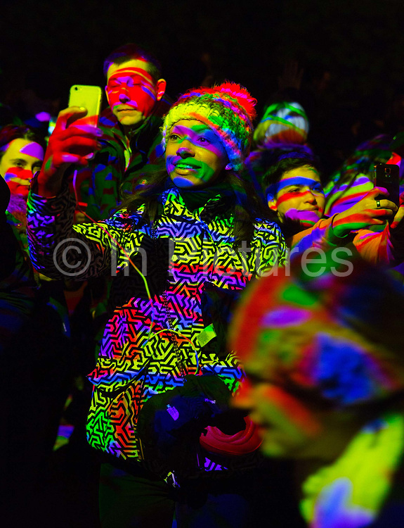 Crowds explored Light Graffiti in King's Cross, an interactive installation that invited audiences to use smartphone torches or any other source of light to paint onto their surroundings as part of the a free London Lumiere light festival. <br /> <br /> This innovative installation used a USB camera, projector and computer to transform light sources into a paintbrush, allowing users to decorate the area as they wished.<br /> <br /> Held over 4 days in January 2016 the event brought huge crowds into Londons centre. The work was produced by Floating Pictures are a Stockholm-based art production company. The whole festival was produced by Artichoke and supported by the Mayor of London, in 30 locations across some of the capital's most iconic areas.