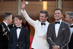 David Furnish, Kit Connor, Richard Madden and Taron Egerton attending the Rocketman Premiere as part of the 72nd Cannes International Film Festival in Cannes, France on May 16, 2019. Photo by Aurore Marechal/ABACAPRESS.COM