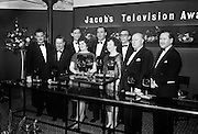 Recipients of Jacobs Television Awards in 1962 included Proinsias Mac Aonghusa and  Micheal O hEithir (left and second from left), Charles Mitchell (centre), Hilton Edwards (second from right)..04.12.1962