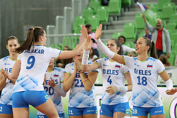 Iza Mlakar of Slovenia celebrates after the volleyball match between National team of Turkey and Slovenia in Gold Medal game of Womens U23 World Championship 2017, on September 17, 2017 in SRC Stozice, Ljubljana, Slovenia. Photo by Morgan Kristan / Sportida