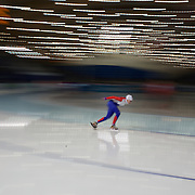Winter Olympics, Vancouver, 2010.Athletes training at the Speed Skating venue at Richmond Oval in preparation for the Long Track Speed Skating event at the Winter Olympics. 8th February 2010. Photo Tim Clayton