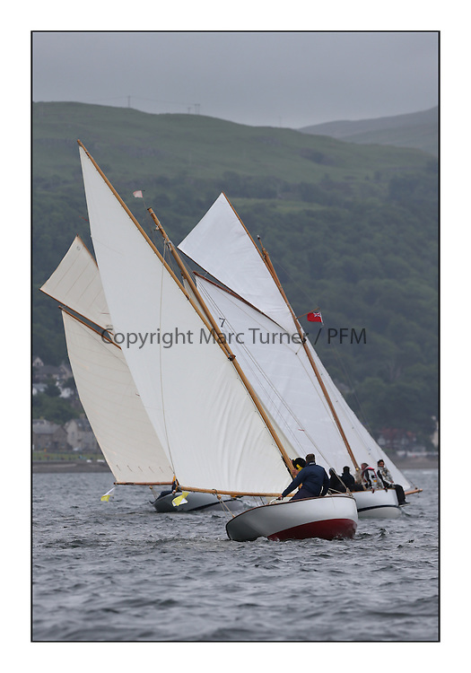 Day one of the Fife Regatta, Round Cumbraes Race.<br /> Rainbow, Mark Butler, GBR, Gaff Sloop, 1896<br /> <br /> * The William Fife designed Yachts return to the birthplace of these historic yachts, the Scotland's pre-eminent yacht designer and builder for the 4th Fife Regatta on the Clyde 28th June–5th July 2013<br /> <br /> More information is available on the website: www.fiferegatta.com
