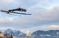 06.01.2016, Paul Ausserleitner Schanze, Bischofshofen, AUT, FIS Weltcup Ski Sprung, Vierschanzentournee, Bischofshofen, Probedurchgang, im Bild Andreas Wellinger (GER) // Andreas Wellinger of Germany during his trial jump of the Four Hills Tournament of FIS Ski Jumping World Cup at the Paul Ausserleitner Schanze in Bischofshofen, Austria on 2016/01/06. EXPA Pictures © 2016, PhotoCredit: EXPA/ JFK