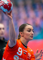 Larissa Nusser of Netherlands before the Women's EHF Euro 2020 match between Netherlands and Germany at Sydbank Arena on december 14, 2020 in Kolding, Denmark (Photo by RHF Agency/Ronald Hoogendoorn)