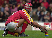 © Intersport Images .Photo Peter Spurrier.12/05/2002.Sport - Rugby League.London Broncos vs Widnes Vikings.Tony Martin....