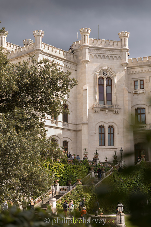 View of Miramare Castle, Trieste, Italy