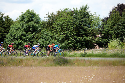 Alicia Gonzalez (ESP) and Jeanne Korevaar (NED) at Stage 2 of 2019 OVO Women's Tour, a 62.5 km road race starting and finishing in the Kent Cyclopark in Gravesend, United Kingdom on June 11, 2019. Photo by Sean Robinson/velofocus.com