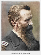 John Lorimer Worden (March 12, 1818 – October 19, 1897) was a U.S. Navy officer in the American Civil War, who took part in the Battle of Hampton Roads, the first-ever engagement between ironclad steamships at Hampton Roads, Virginia, on 9 March 1862. Commanding the Union's only warship of this class, USS Monitor, Worden challenged the Confederate vessel Virginia, a converted steam-frigate that had sunk two Union blockaders and damaged two others. After a four-hour battle, both ships withdrew, unable to pierce the other's armour. from the book ' The Civil war through the camera ' hundreds of vivid photographs actually taken in Civil war times, sixteen reproductions in color of famous war paintings. The new text history by Henry W. Elson. A. complete illustrated history of the Civil war