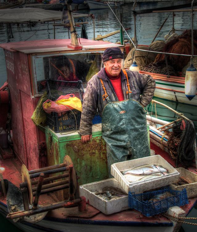 Fishermen in Volos harbour - 9