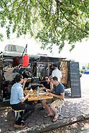 Short Grain food truck parked on East Bay Street.