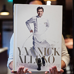 "PARIS, FRANCE. NOVEMBER 8, 2013. The new 17 kg book from Chef Yannick Alleno at the ""Terroir Parisien"", his new restaurant atttached to La Bourse's Palais Brongniart. Photo: Antoine Doyen"
