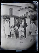 family during their summer holiday vacation trip France 1923