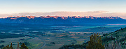 Sawtooth Mountains Panorama at Sunrise from Galena Summit