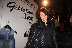 Actress HOLLY DAVIDSON at the Lee store re-launch party held at 13-14 Carnaby Street, London on 31st March 2010.