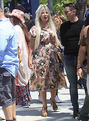 Tori Spelling is seen in Los Angeles, CA.