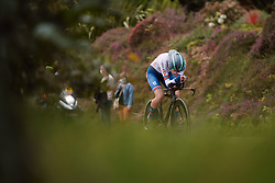 Lizzy Banks (GBR) at the 2020 UEC Road European Championships - Elite Women ITT, a 25.6 km individual time trial in Plouay, France on August 24, 2020. Photo by Sean Robinson/velofocus.com