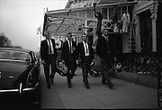 Irish Rugby Football Union, Ireland v New Zealand, Tour Match, New Zealand Team in Dublin, Dublin, Ireland, Sunday 15th December, 1963,.15.12.1963, 12.15.1963,..Referee- H Keenen, Rugby Football Union, ..Score- Ireland 5 - 6 New Zealand, ..Irish Team, ..T J Kiernan, Wearing number 15 Irish jersey, Full Back, Cork Constitution Rugby Football Club, Cork, Ireland,..J Fortune, Wearing number 14 Irish jersey, Right Wing, Clontarf Rugby Football Club, Dublin, Ireland,..P J Casey, Wearing number 13 Irish jersey, Right Centre, University College Dublin Rugby Football Club, Dublin, Ireland, ..J C Walsh,  Wearing number 12 Irish jersey, Left Centre, University college Cork Football Club, Cork, Ireland,..A T A Duggan, Wearing number 11 Irish jersey, Left Wing, Landsdowne Rugby Football Club, Dublin, Ireland,..M A English, Wearing number 10 Irish jersey, Stand Off, Landsdowne Rugby Football Club, Dublin, Ireland, ..J C Kelly, Wearing number 9 Irish jersey, Captain of the Irish team, Scrum Half, University College Dublin Rugby Football Club, Dublin, Ireland,..P J Dwyer, Wearing number 1 Irish jersey, Forward, University College Dublin Rugby Football Club, Dublin, Ireland, ..A R Dawson, Wearing number 2 Irish jersey, Forward, Wanderers Rugby Football Club, Dublin, Ireland, ..R J McLoughlin, Wearing number 3 Irish jersey, Forward, Gosforth Rugby Football Club, Newcastle, England, ..W J McBride, Wearing number 4 Irish jersey, Forward, Ballymena Rugby Football Club, Antrim, Northern Ireland,..W A Mulcahy, Wearing number 5 Irish jersey, Forward, Bective Rangers Rugby Football Club, Dublin, Ireland,  ..E P McGuire, Wearing number 6 Irish jersey, Forward, University college Galway Football Club, Galway, Ireland,  ..P J A O' Sullivan, Wearing  Number 8 Irish jersey, Forward, Galwegians Rugby Football Club, Galway, Ireland,..N A Murphy, Wearing number 7 Irish jersey, Forward, Cork Constitution Rugby Football Club, Cork, Ireland,..New Zealand Team, ..D B Clarke, Wearing number 1 New Zeala