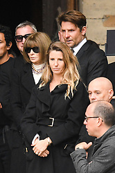 Anna Wintour, Bradley Cooper leaving the funeral service for late photographer Peter Lindbergh held at Saint Sulpice church in Paris, France on September 24, 2019. Photo by ABACAPRESS.COM