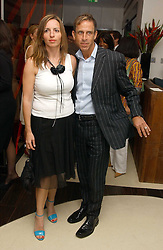 Fashion designer BEN DE LISI and MISS DEBBIE LOVEJOY at a party to celebrate the opening of Maze - a new Gordon Ramsay restaurant at 10-13 Grosvenor Square, London W1 on 24th May 2005.<br /><br />NON EXCLUSIVE - WORLD RIGHTS