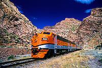 The Royal Gorge route, Canon City and Royal Gorge Railroad, near Canon City, Colorado USA