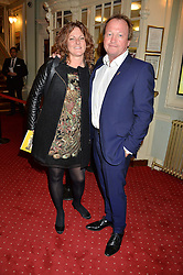 MARK KING and his wife RIA KING at Beautiful - The Carole King Musical 1st Birthday celebration evening at The Aldwych Theatre, London on 23rd February 2016.