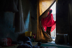 Hussaina, 14, visits her sister Aisha, 17, at her small home in Maiduguri. Five girls from their family were taken by the militant Islamist group, which began it's insurgency against the Nigerian government in 2009. The terrorist group drew global outrage after abducting more than 270 schoolgirls from the town of Chibok. Many of the girls were forced into marriage and motherhood. The Borno State National Emergency Agency estimates tens of thousands more women and girls have also been kidnapped by militants in less-publicized attacks. In armed conflicts, child marriage is increasingly used as a weapon of war, forcing girls to give birth give birth to the next germination of fighters. Thousands of girls remain missing in Nigeria with little help of rescue. Those who manage to escape struggle with little support to rebuild their lives.