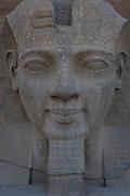 Large Rameses II face statue, Karnak Temple, Luxor