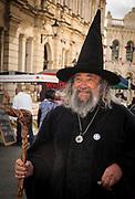 The Wizard helps to open Victorian festival, historic precinct, Oamaru, Otago