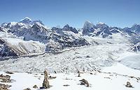 The spectacular Everest skyline viewed from Gokyo Ri, Sagarmatha National Park, Nepal