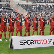 Eskisehirspor's players during their Turkish superleague soccer match Besiktas between Eskisehirspor at BJK Inonu Stadium in Istanbul Turkey on Monday, 16 May 2011. Photo by TURKPIX