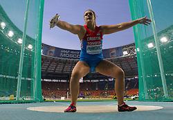11.08.2013, Luzhniki Stadion, Moskau, RUS, IAAF Leichtathletik Weltmeisterschaft, im Bild SANDRA PERKOVIC // during the IAAF world athletics championships at Luzhniki stadium in Moscow, Russia on 2013/08/11. EXPA Pictures © 2013, PhotoCredit: EXPA/ Newspix/ Roman Bosiacki<br /> <br /> ***** ATTENTION - for AUT, SLO, CRO, SRB, BIH, TUR, SUI and SWE only *****