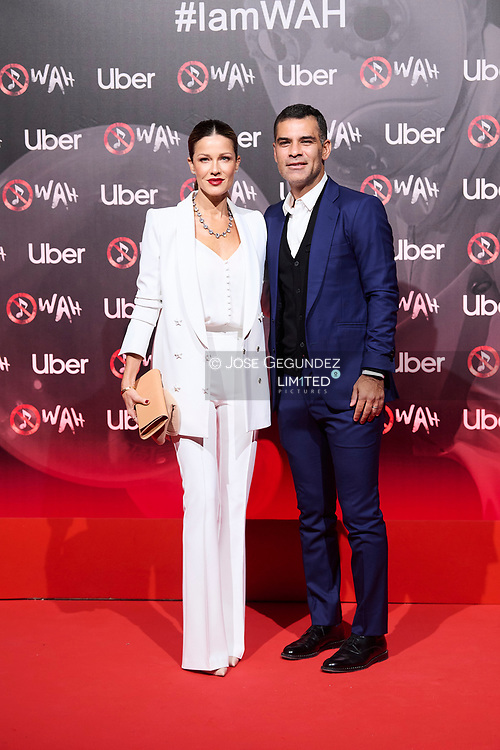 Jaydy Michel, Rafa Marquez attends 'Wah' Musical Show World Premiere Red Carpet at IFEMA on October 7, 2021 in Madrid, Spain