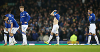 Football - 2019 / 2020 EFL Carabao (League) Cup - Quarter-Final: Everton vs. Leicester City<br /> <br /> Leighton Baines of Everton reacts after the penalty shoot out  at Goodison Park.<br /> <br /> COLORSPORT/LYNNE CAMERON