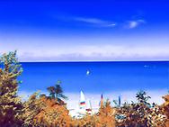 Glencoe beach, a north shore suburb of Chicago